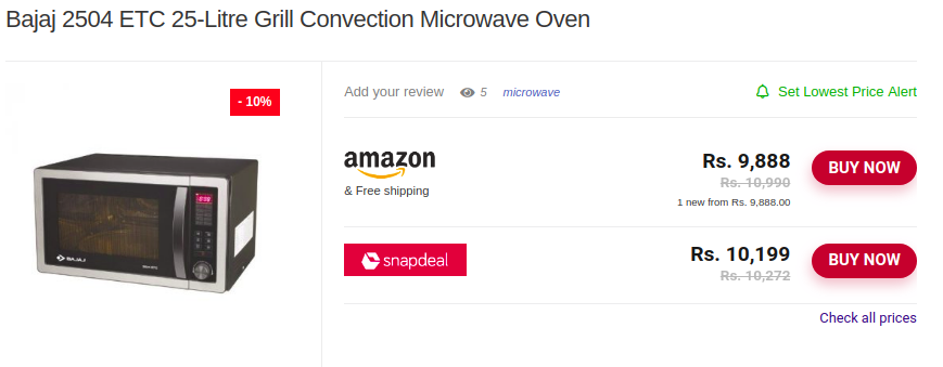 531ceb95157 Bajaj 2504 ETC 25-Litre Grill Convection Microwave Oven-LeloDiscount
