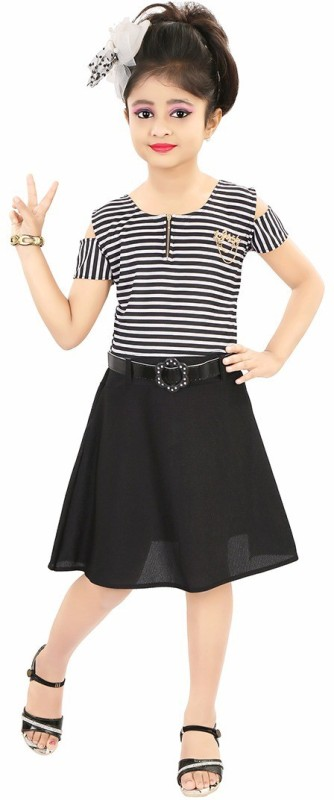 cd82d070f63 73% Style Junction Girls Midi/Knee Length Party Dress (Black, Fashion  Sleeve)