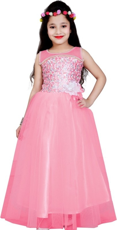 Aarika Pink Net Gown