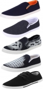 Bersache COMBO(B)-486+689+723+349+720 Loafers For Men  (Multicolor)