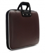 Brown P.U. Leather laptop Office Bag- 15 Inch With String