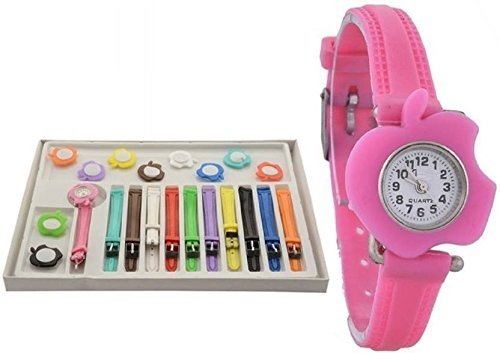 Cloudwood Cute Apple 11 Belt Multicolour Stylish Analogue Watch For Girls & Women_Wth-87