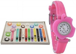 Cloudwood Cute Apple 11 Belt Multicolour Stylish Analogue Watch For Girls & Women_Wth-87