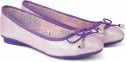 Disney Princess Girls Slip on Ballerinas  (Pink)
