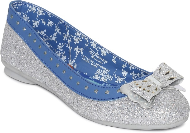 DISNEY PRINCESS Girls Slip on Ballerinas  (Silver)