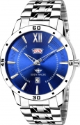 Eddy hager EH-210-BL Blue Day and Date Watch – For Men