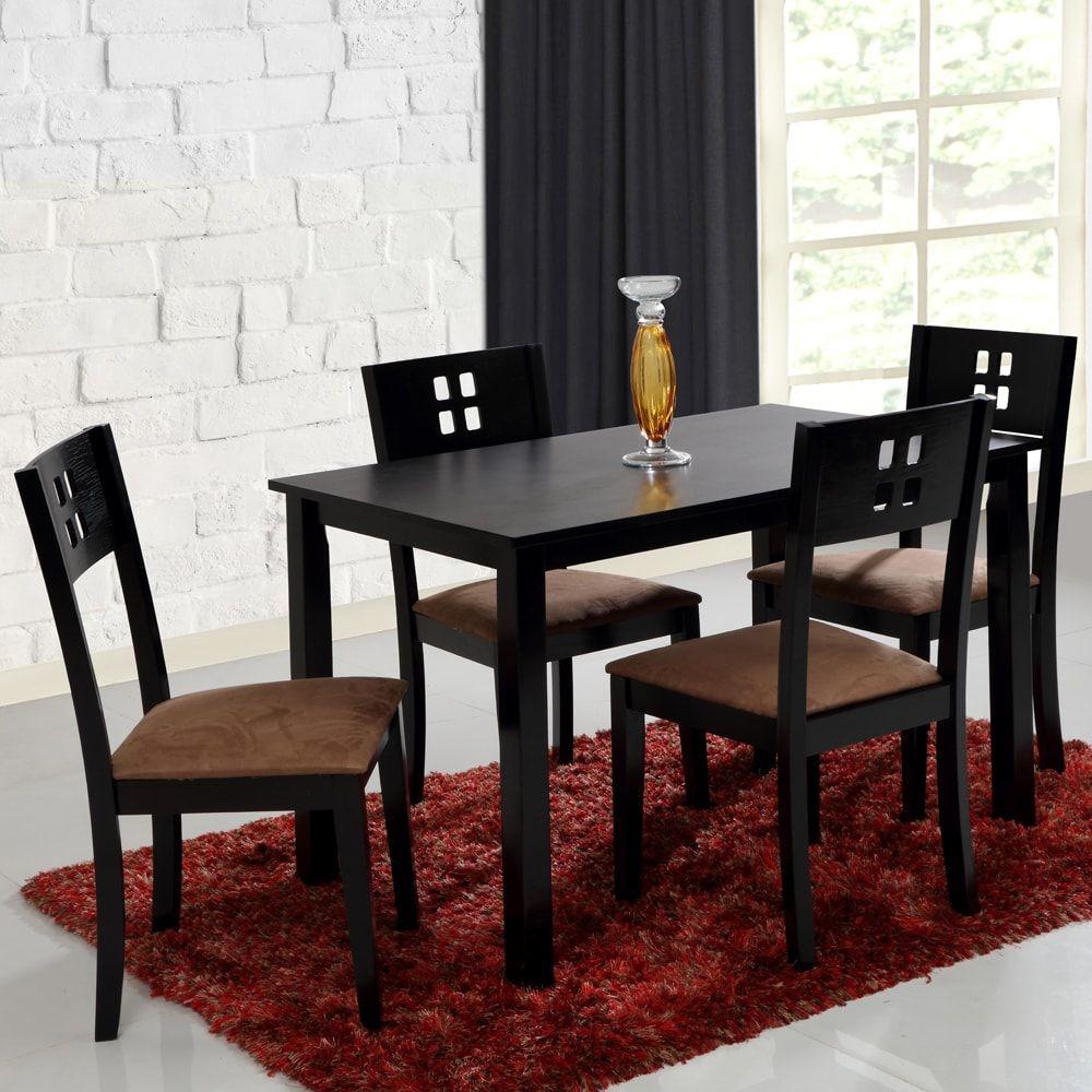 EVOK Enzo Solidwood Dining Set 1+4-Wenge