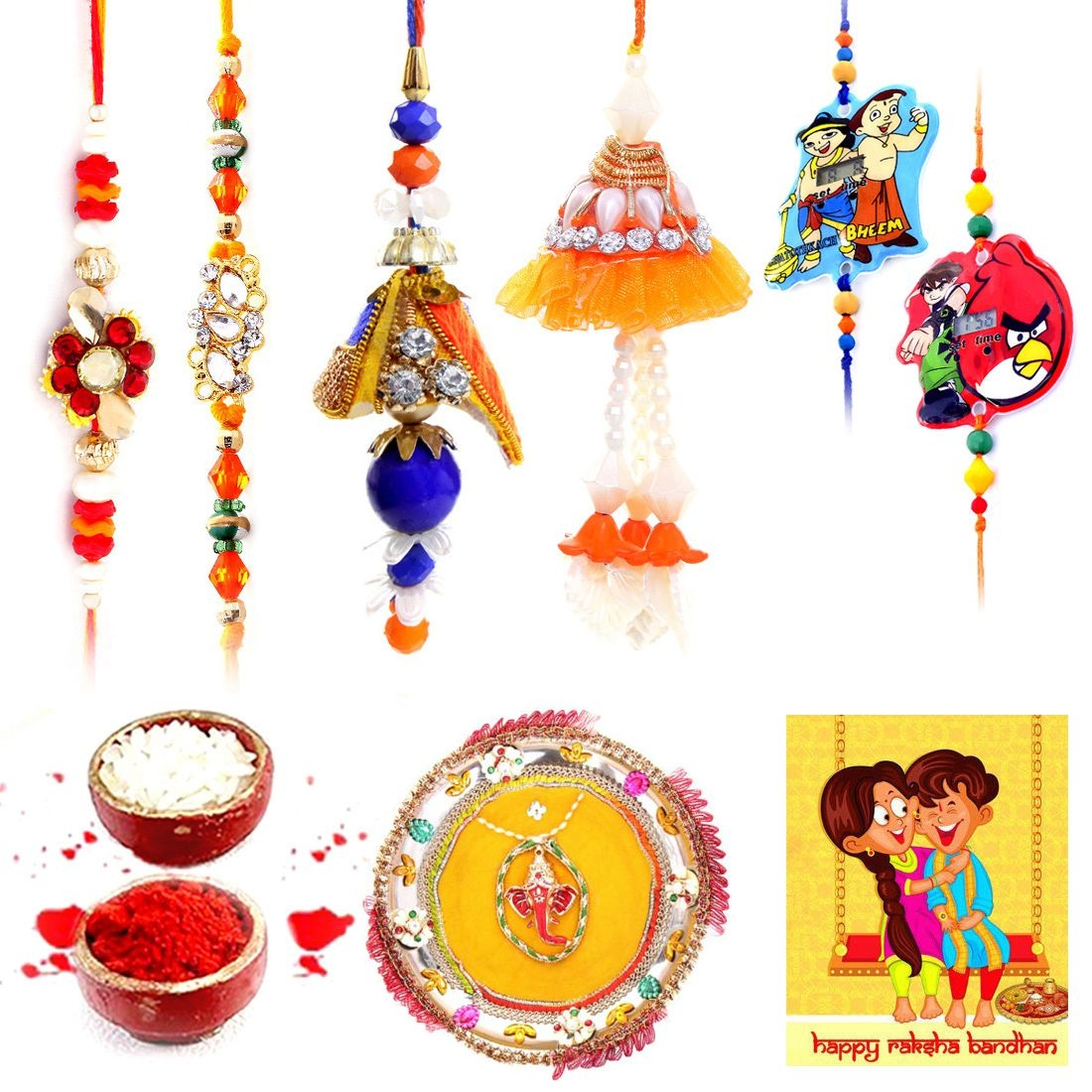 Halowishes Ethnic Meenakari Pooja Thali Raksha Bandhan Gift