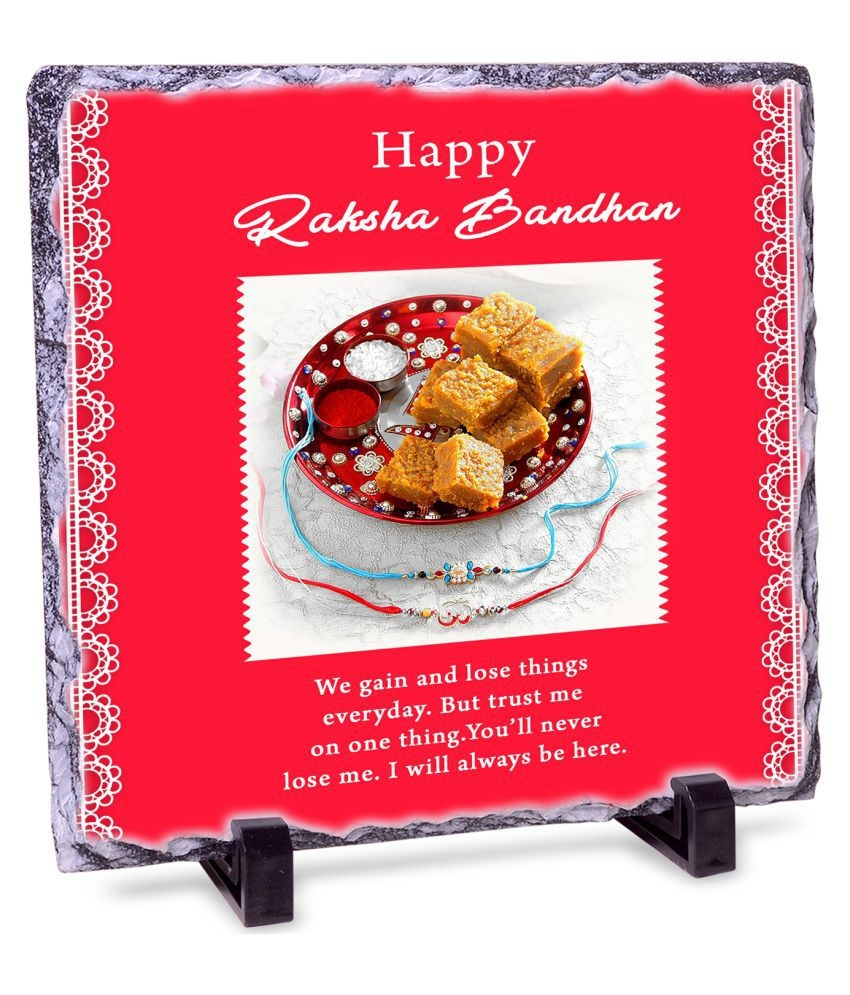 Happy Raksha Bandhan Rock Tile