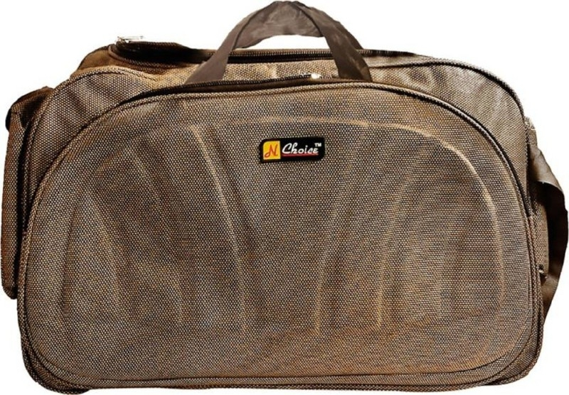 Inte Enterprises (Expandable) brown01 Travel Duffel Bag(Brown)