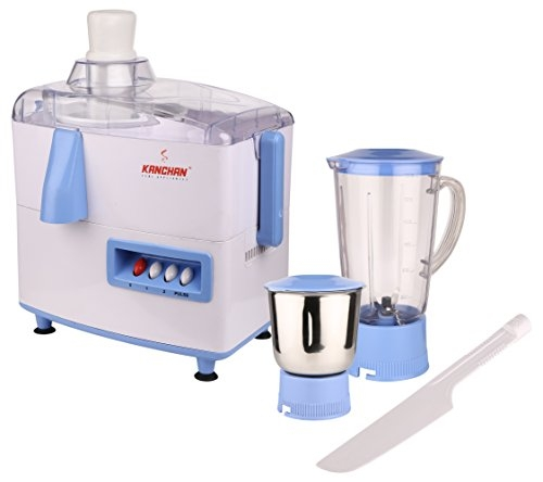 Kanchan Kelly 450 W Juicer Mixer Grinder  (White, 2 Jars)