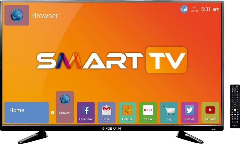 केविन 102 सेमी (40 इंच) केएन 40 एस फुल एचडी एलईडी स्मार्ट टीवी (ब्लैक)