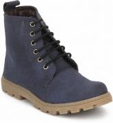 Knotty Derby Boys & Girls Lace Sneakers  (Blue)