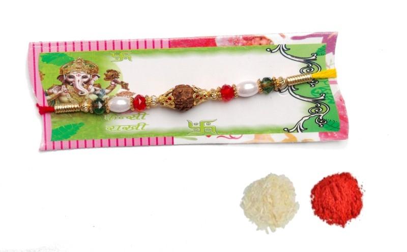 KPC Religious Rakhi Set  (1 Rudraksh Rakhi)