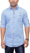 Kuons Avenue Men's Solid Casual Spread Shirt