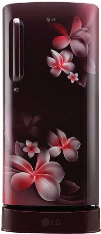LG 190 L Direct Cool Single Door 4 Star Refrigerator  (Scarlet Plumeria, GL-D201ASPX)