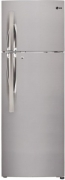 LG 260 L 3 Star Frost-Free Double-Door Refrigerator (GL-T292RPZU, Shiny Steel,Inverter Compressor)