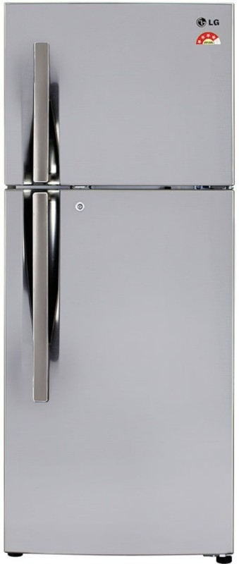 LG 260 L Frost Free Double Door 4 Star Refrigerator  (Shiny Steel, GL-I292RPZL)