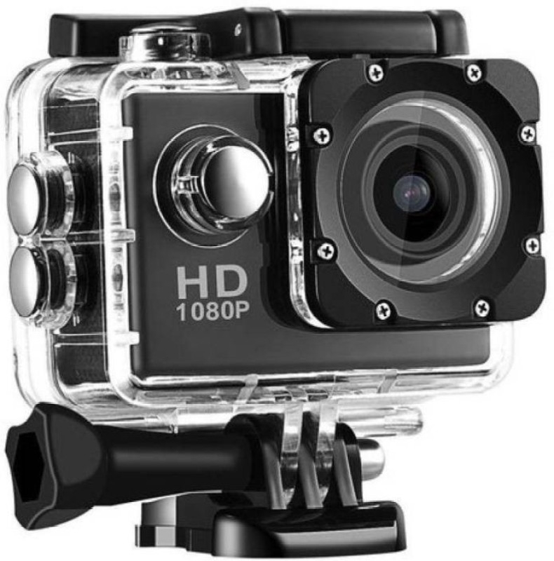 Like Star Action Shot Action Shot Full HD 12MP 1080P Black Helmet Sports Action Waterproof Sports and Action Camera Sports and Action Camera  (Multicolor 12 MP)