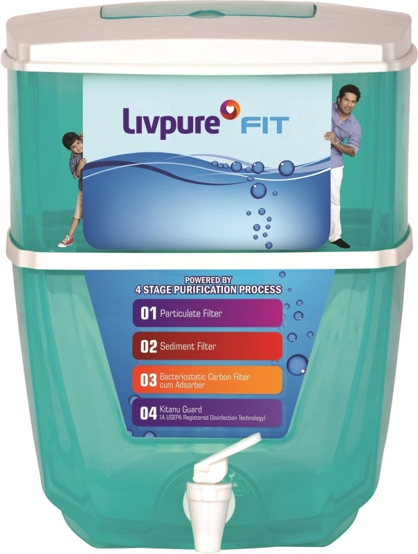 Livpure LIVPURE FIT 17 L Gravity Based Water Purifier  (Sea Green)