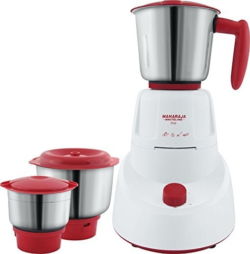 Maharaja Whiteline MG Livo MX-151 500-Watt Mixer Grinder with 3 Jars (Red)