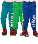 Maniac Multicoloured Cotton Trackpants (Pack of 3)