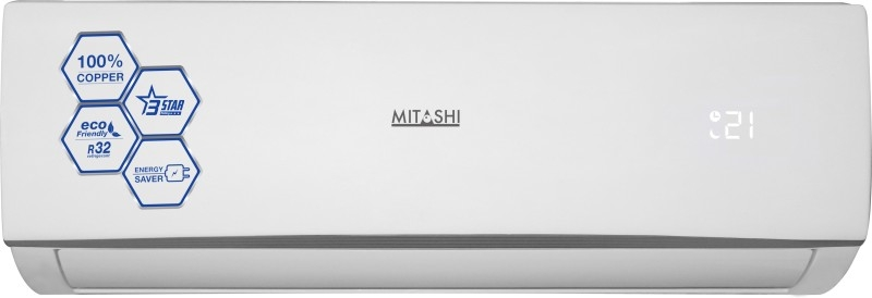 Mitashi 1 Ton 3 Star BEE Rating 2018 Split AC – White  (FSA312K50, Copper Condenser)