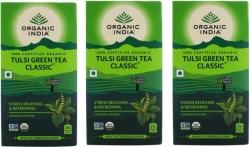 Organic India Tulsi Green Tea Bags  (75 Bags, Box)