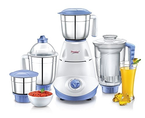 Prestige Iris(750 Watt) Mixer Grinder with 3 Stainless Steel Jar + 1 Juicer Jar