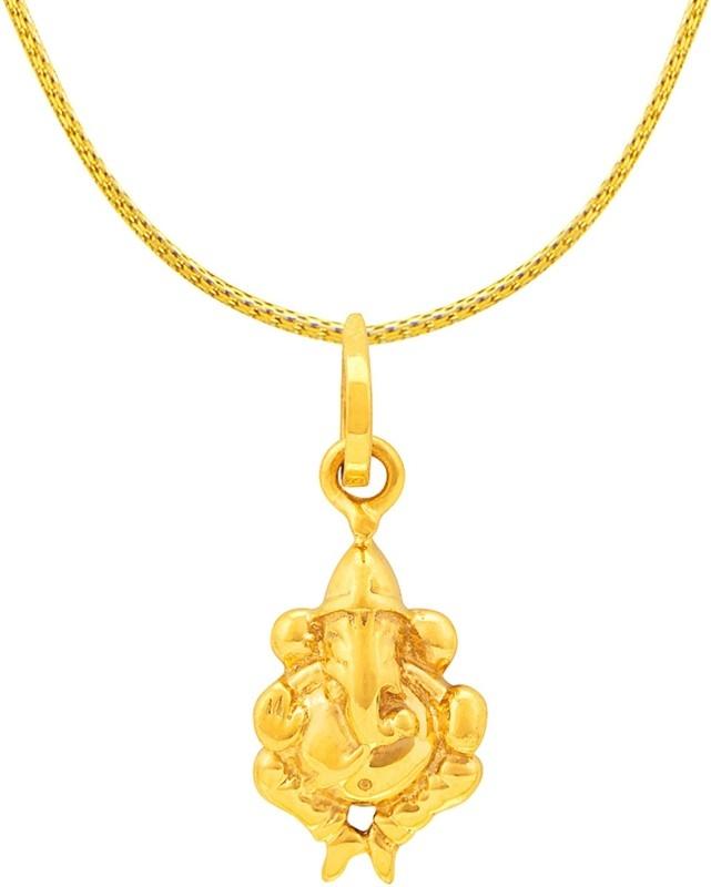 RSBL BIS Hallmark Religious Ganesha Pendant 4g 22kt Yellow Gold Pendant
