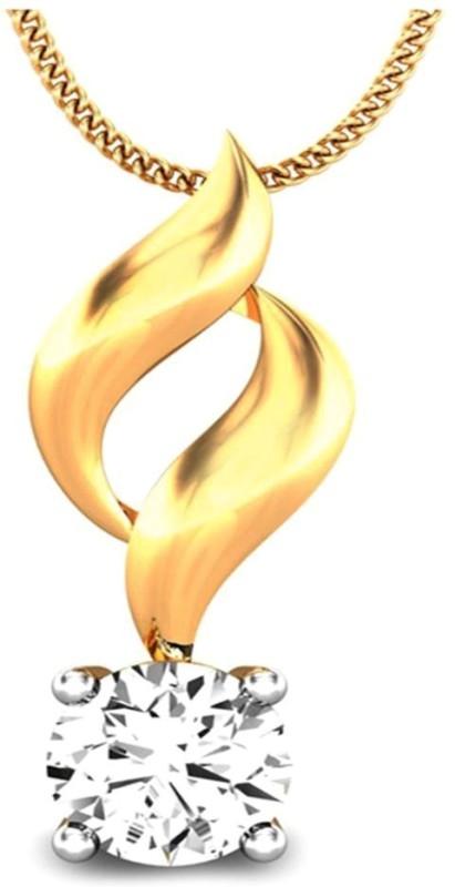 Samaira Gem and Jewelery Forever 14kt Swarovski Zirconia Yellow Gold Pendant