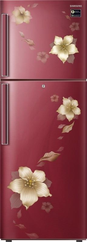 Samsung 253 L 2 Star Inverter Frost-Free Double-Door Refrigerator (RT28N3342R2/HL, Star Flower Red)
