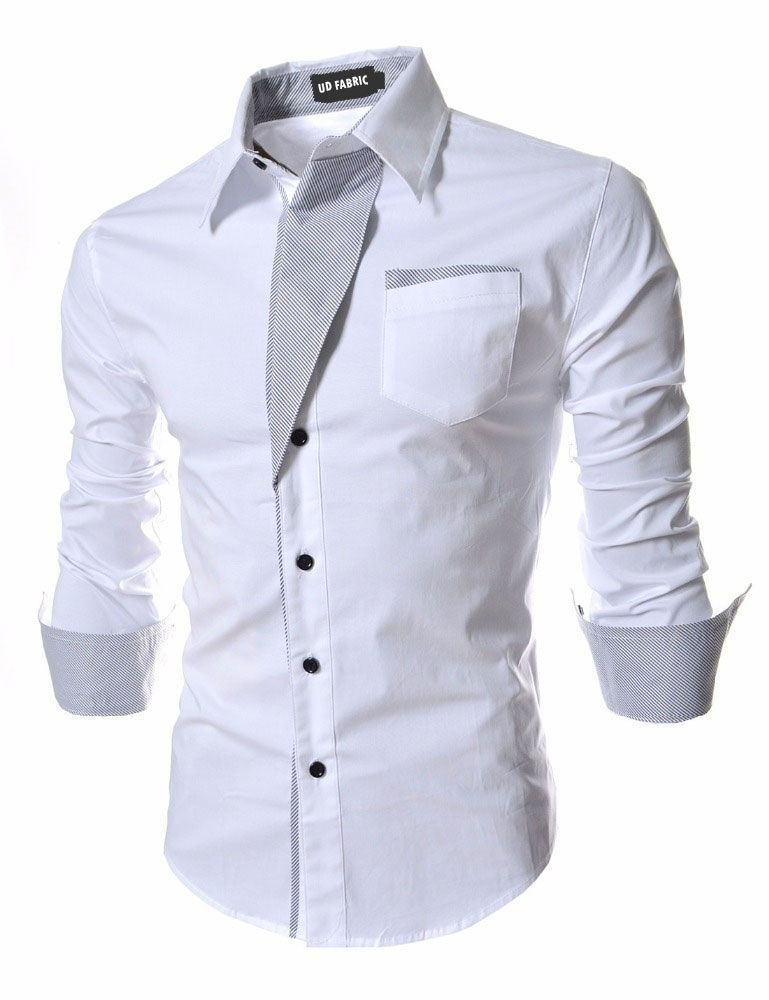 UD FABRIC White Regular Fit Party wear Shirt