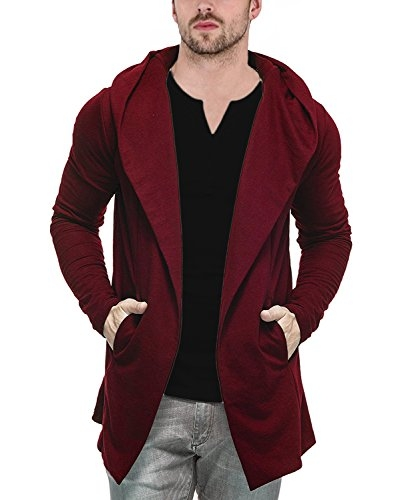 Veirdo Men's Cotton Blend Hooded Cardigan (Shrug for Men) Casual wear, Party wear