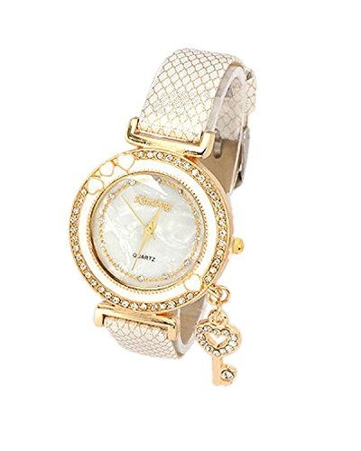 Young & Forever Wardrobe Refresh Fashion Sale Special On Time Trendsetter Fashionista Key Charm Analog Bracelet Watch for Women Girls (B55164)