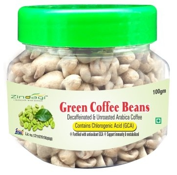 Zindagi Green Coffee Beans – Natural & Best Health Supplement For Weight Loss (100 GM)
